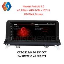 64 Гб ПЗУ x5 e70 Android 9 стерео для BMW X5 E70 X6 E71 CCC HD видео 1920x720 черный экран Автомобильный сенсорный мультимедийный радио gps Nav