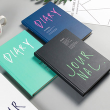 A5 Fresh Cute Paper Pocket Bullet Journal Planner Filofax Blank Diary Travelers Notebook With Horizontal Stations
