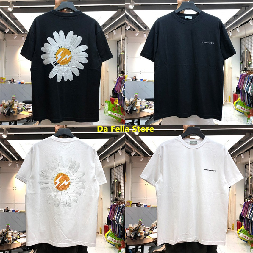 Peaceminusone T-shirt 2020 Men Women PEACEMINUSONE T-shirts High Quality Daisy Lightning Print Tee G-DRAGON Hip Hop Classic Tops