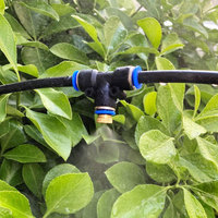 6 meters 6 head atomization trampoline system Outdoor garden cooling spray set 2 points quick plug nozzle-black