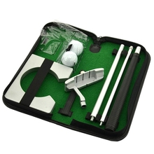Портативный набор клюшек для гольфа установка тренера оборудование для тренировок в помещении держатель для мяча для гольфа инструмент для тренировки с чехол для переноски