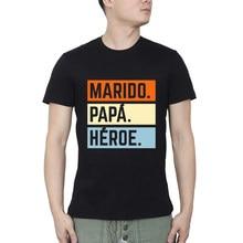Marido papa heroe super espoo superheroe 3c casual verão camiseta streetwear o pescoço