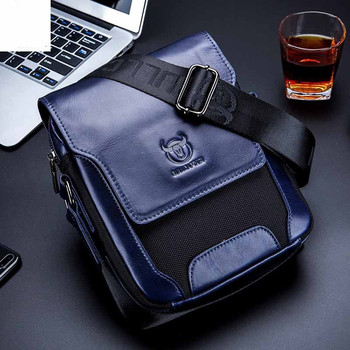 Brand Genuine Leather Casual Men's Bag cow leather Shoulder Bag fashion Man Crossbody Messenger bag male Covered bag handbags