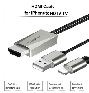 Image 2 - IOS الهاتف HDMI كابل HDTV USB AV محول الصوت والفيديو الناقل الحبل آيفون 11 12 5 6 7 8 Plus X XS ماكس XR باد الاتصال إلى التلفزيون