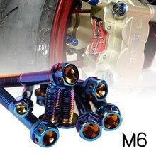 1 pièces M6 Motorfiets Schroeven Moer 304 Rvs Bout Buiten tête hexagonale capuchon Bouten M6 vis 10/15/ 20/25/30/35/45/45/50/55mm