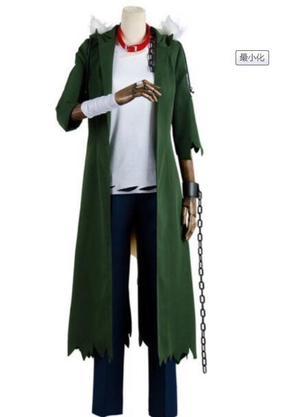 My Boku no Hero Academia Katsuki Bakugou Cosplay Costume Adult Green Long Coat Halloween Cosplay Costume Coat Outfit