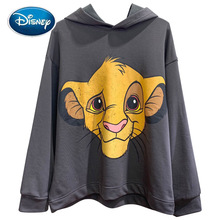 Disney Stylish The Lion King King of the Jungle Cartoon Print T Shirt Hoodie Pullover Casual Lady Long Sleeve Harajuku Loose Top