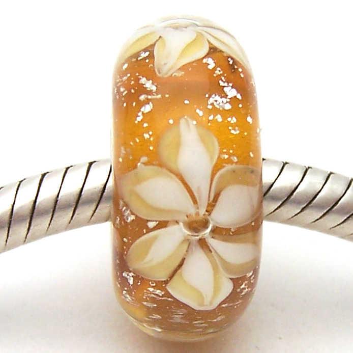 PJG1520 100% S925 Nữ Bạc Hạt Thủy Tinh Murano Hạt Thủy Tinh Phù Hợp Với Châu Âu Vòng Tay Vòng Đeo Tay Hạt Charm DIY Trang Sức Lampwork Glassbeads