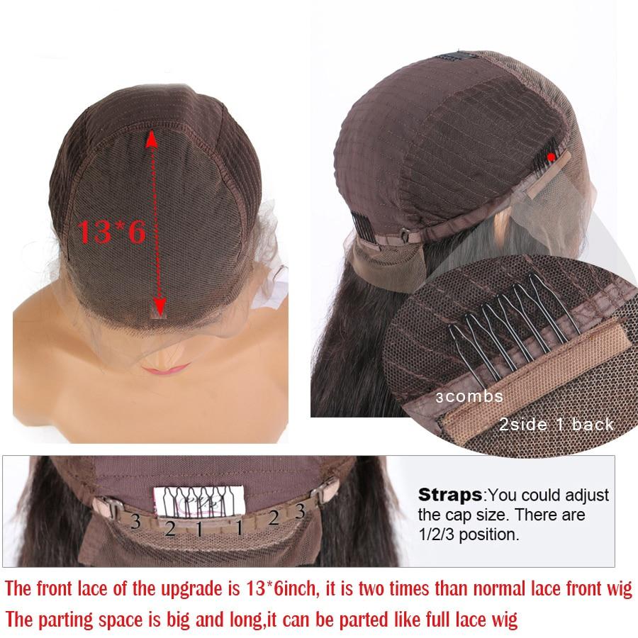 Ombre vermelho pré arrancado 13x4 perucas frontal