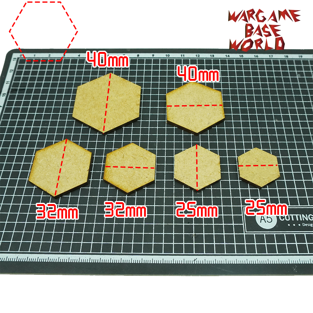 Incircle Excircle Hexagon Bases- MDF Bases