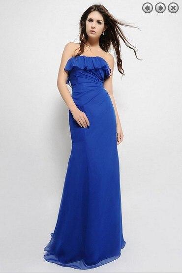 Free Shipping Pageant 2018 Plus Size Brides Maid Vestido De Festa Ruffles Formal Long Chiffon Purple Bridesmaid Dresses