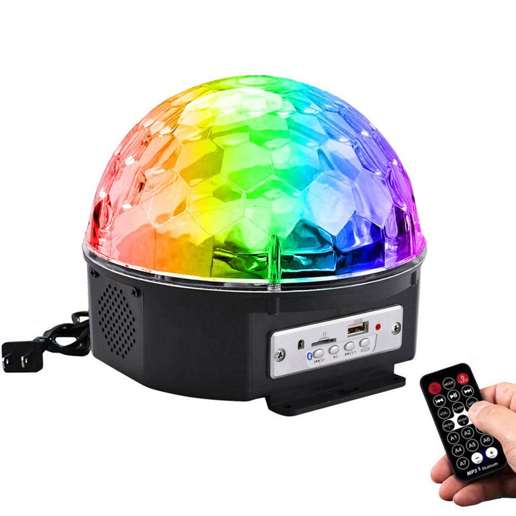 Disco Ball Color With Light Music For Home Bluetooth RGB New Year's Projector Christmas Decorations LED Remote Control Star Rain