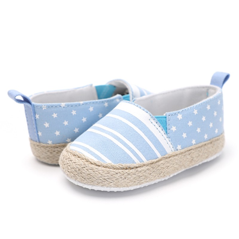 Weixinbuy Newborn Baby Shoes Moccasins Fashiob Striped Baby Girls Shoes First Walkers Toddler Shoes Girls Boys First Walkers
