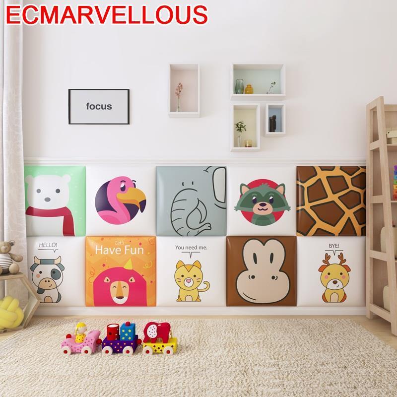 Testata Letto Coussin T Te Chambre A Coucher Child 3D Wall Sticker Bed Pared Tete De Lit Cabecero Cama Cabeceira Headboard