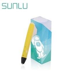 SUNLU 3D pióro do dekorowania książę M1 wsparcie PLA/Filament PCL 1.75MM dobre dla dzieci DIY Scribble narzędzia żółty kolor zestaw pudełek