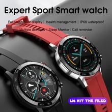 L16 inteligentny zegarek mężczyźni ekg PPG tętno ciśnienie krwi IP68 wodoodporny wiele sport inteligentny trening Smartwatch VS L11 L13 L15 L8 tanie tanio Microwear CN (pochodzenie) Brak Na nadgarstku Wszystko kompatybilny 128 MB Passometer Fitness tracker Uśpienia tracker