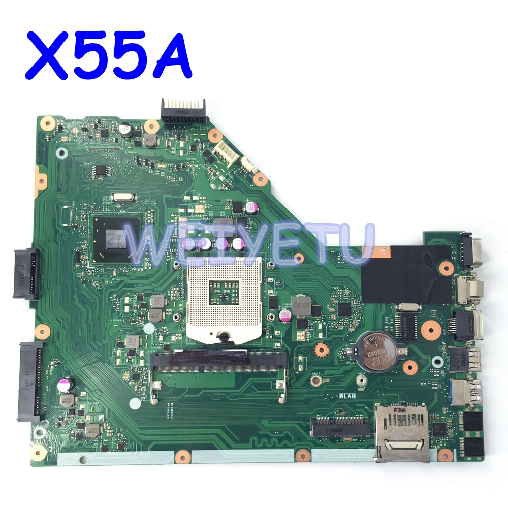 <font><b>X55A</b></font> HM70 SLJNV Mainboard For ASUS <font><b>X55A</b></font> Laptop <font><b>motherboard</b></font> REV 2.1/ REV 2.2 PGA 989 DDR3 100% Tested Working Well Free Shipping image