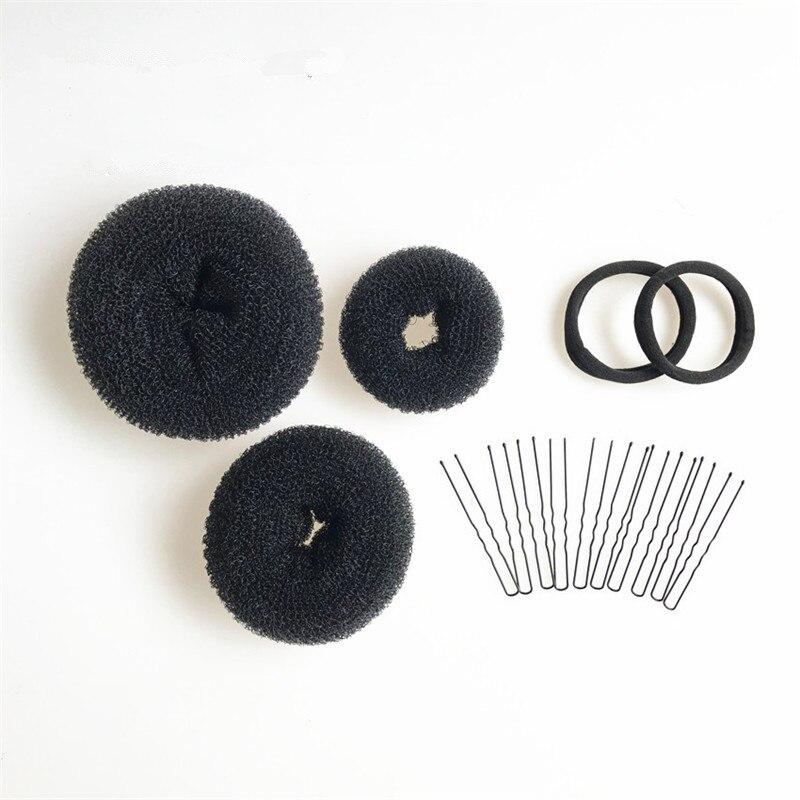 Meatball Head Dish Hair Set Donut U-shaped Clip Elastic Hair Band Hair Accessory Set