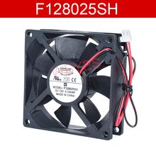 Original For EVERFLOW F128025SH DC12V 0.19A 80*80*25mm Two Lines Cooling Fan