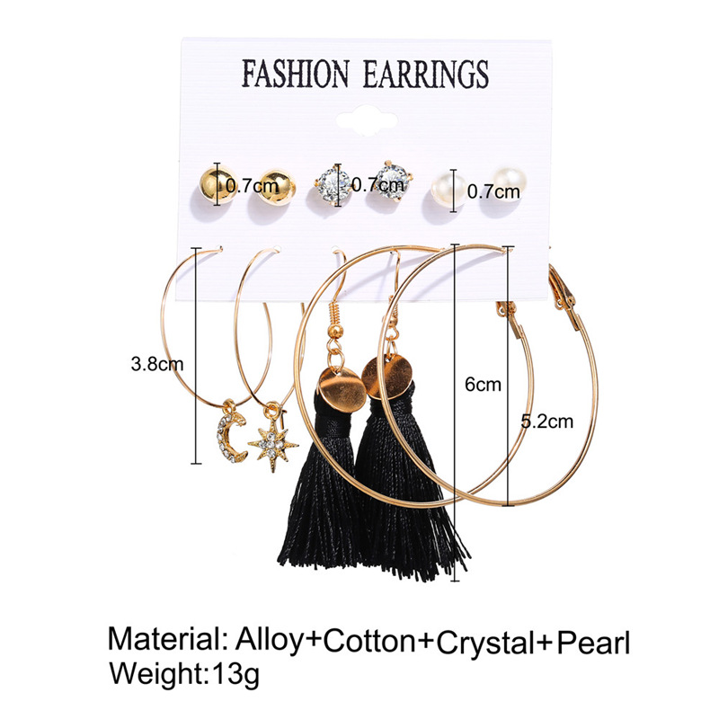 Haf025849f44246dfac86e3d7197403e70 - IF ME Fashion Vintage Gold Pearl Round Circle Drop Earrings Set For Women Girl Large Acrylic Tortoise shell Dangle Ear Jewelry