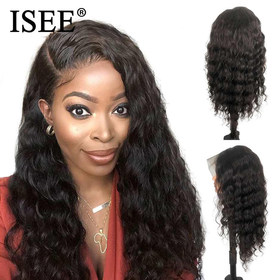13X6 Brazilian Loose Deep Lace Front Human Hair Wigs For Black Women Remy 150 Density 13X4