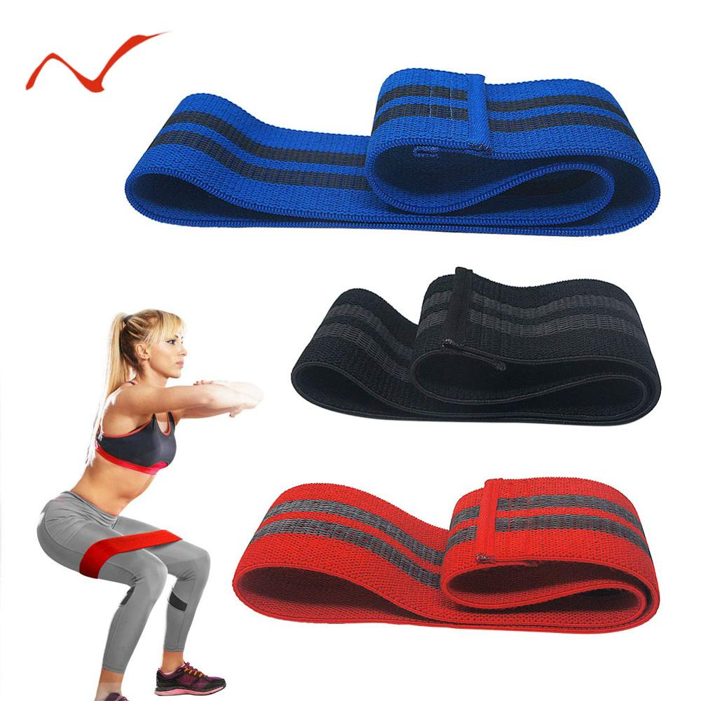 Anti Slip Hip Circle Loop Resistance Bands Booty Elastic Exercise Band for Yoga Stretching Training Fitness Workout