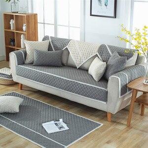 Image 2 - Funda de algodón suave para sofá, toalla para sala de estar, cubierta de banco bajo, funda para sofá cama, fundas de sofá de Navidad