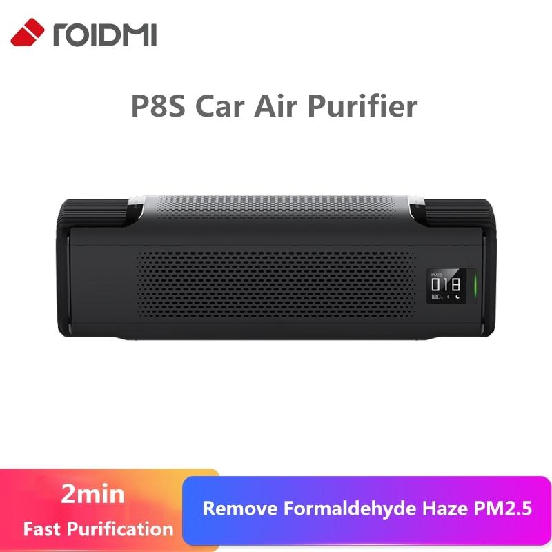 Original Xiaomi Roidmi Car Charger Air Purifier P8S 2 Min Fast Purification Remove Formaldehyde Haze PM2.5 APP Control