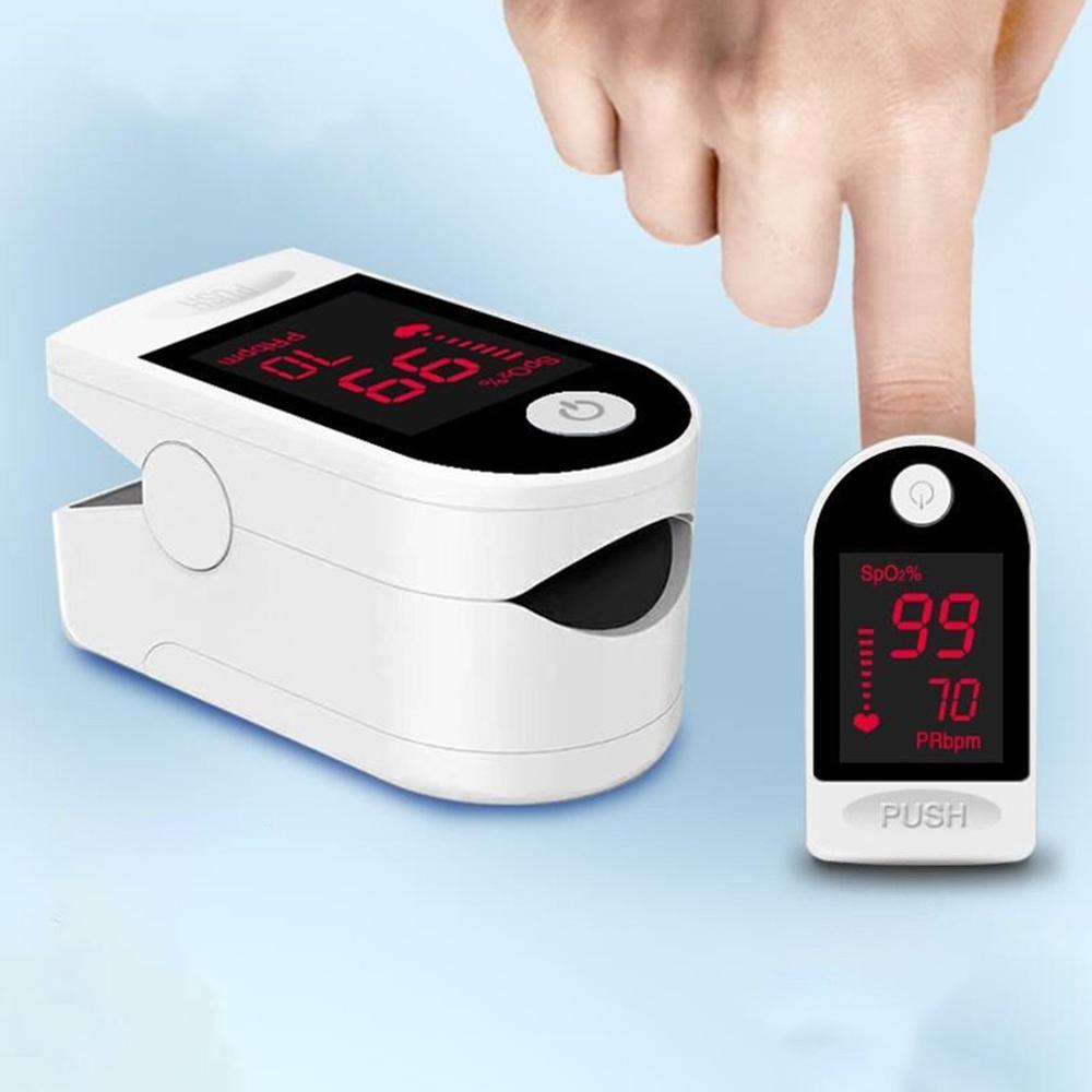 Finger Clip Monitoring Finger Pulse Oximeter White Full Screen