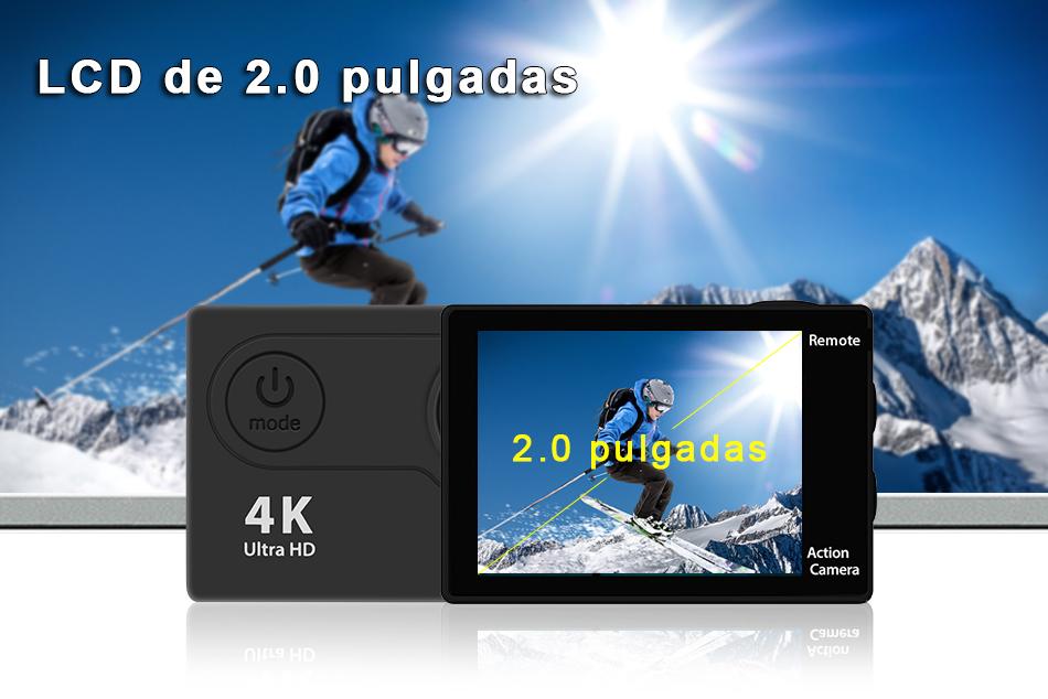 """EKEN H9R/H9 Ultra HD 4 K/30fps WiFi 2,0 """"170D impermeable bajo el agua 11"""
