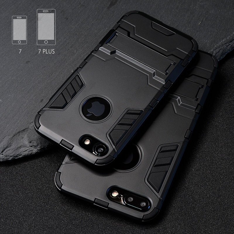 Luxury Stand Armor Phone Holder Case For iPhone 7 8 6 6S Plus X S XS Luxury Stand Armor Phone Holder Case For iPhone 7 8 6 6S Plus X S XS Hybrid TPU+Hard PC ShockProof Back Cover for iphone 5 5S SE