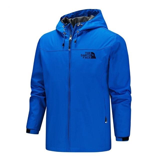 2020 Solid Color Fashion Male Coat Outdoor Sportswear Winter Jacket Men Lightweight Hooded Zipper Waterproof Coat Windproof Warm 6