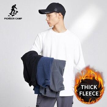 Pioneer Camp 2020 Warm Fleece Hoodies Sweatshirts Men Women Couple Clothes Solid Color Causal Coat Streetwear XCS002207 - discount item  50% OFF Hoodies & Sweatshirts