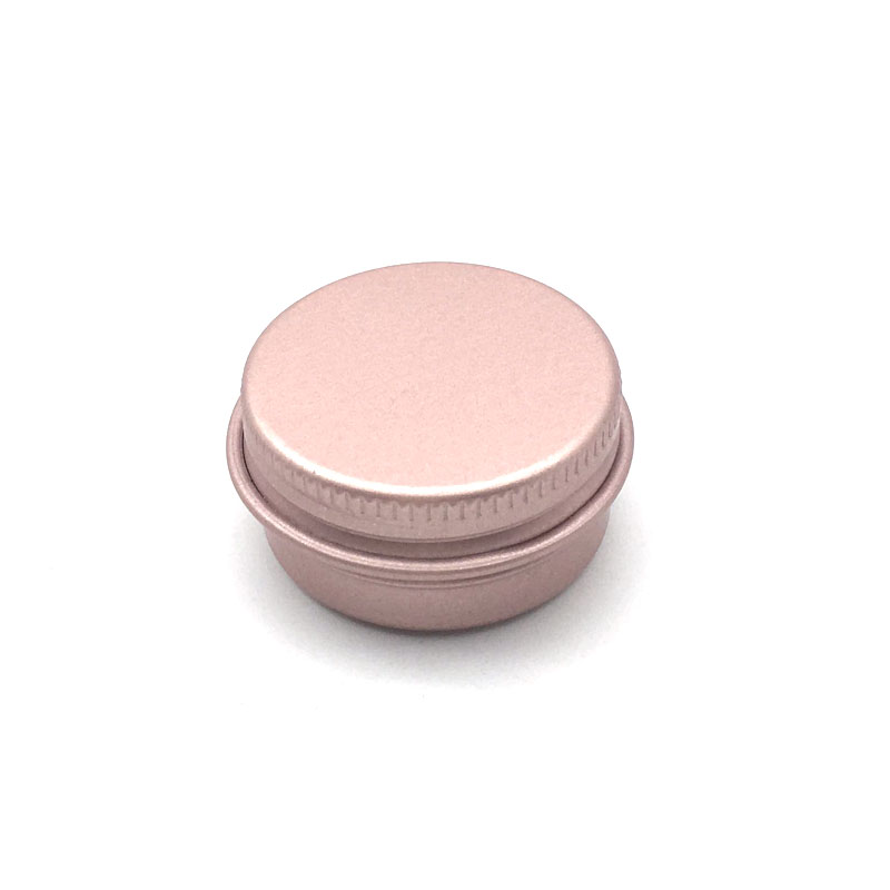 10Pcs 10g Rose Gold Empty Aluminum Pot Jars Cosmetic Containers With Lid Eye Cream Hair Conditioner Tin Cosmetic Metal