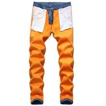 Demin calças de brim para homens inverno quente fino reta jean casual engrossar flanela velo jean elástico lavagem jeans novo plus size 42