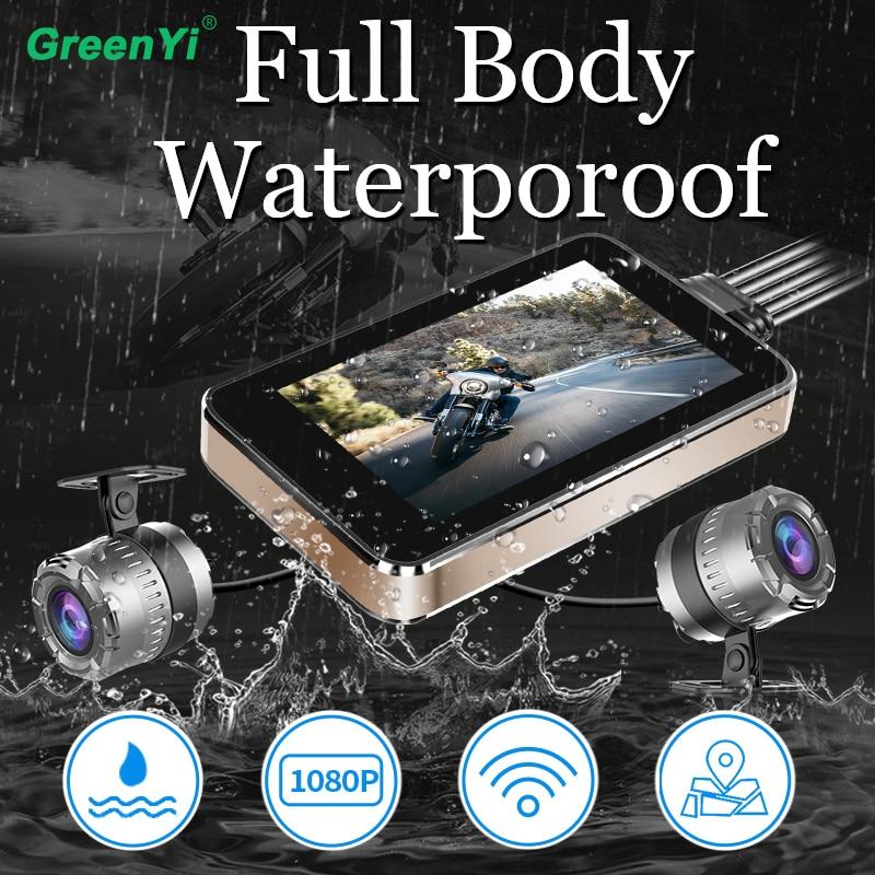 Greenyi Motorcycle DVR Camera Recorder-Box Wifi Rear-View Waterproof 1080P FHD Sprint