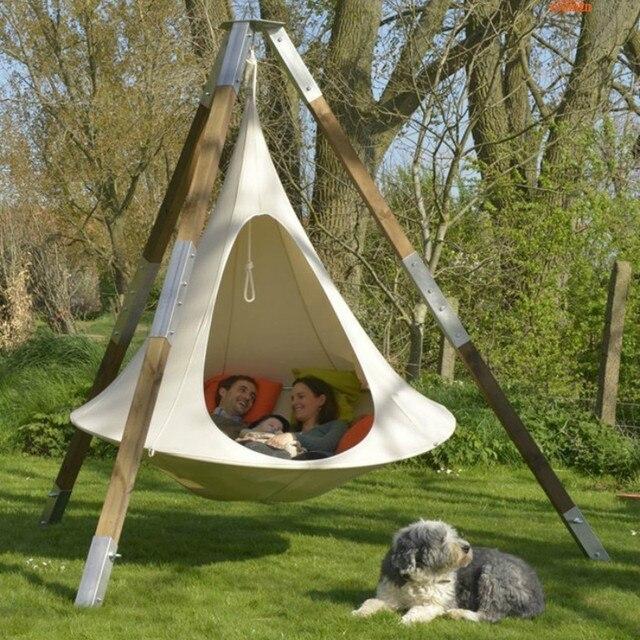 Camping Tree Teepee Cocoon Swinging Hammock  2