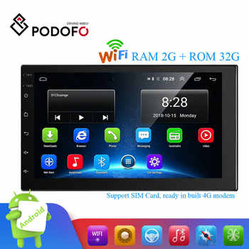 Podofo 2 Din Android Car Multimedia 2G+32G 7 Inch Car Radio GPS Navigation WIFI Bluetooth MP5 Player Support 4G LTE SIM Network - DISCOUNT ITEM  20 OFF Automobiles & Motorcycles