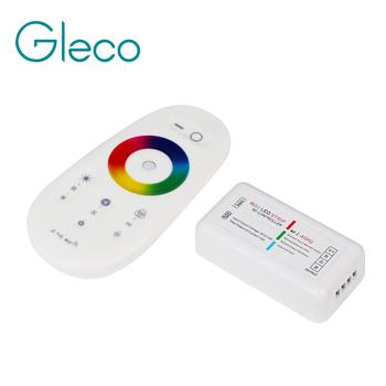 RF 2 4G RGB kontroler RGBW Led Strip kontroler RGB bezprzewodowy pilot RF kanał dla RGB RGBW dla taśmy LED 5050 tanie i dobre opinie Gleco ROHS 12-24 v 2 405GHz-2 485GHz 2 4G Wireless Control RF RGB controller Commcon anode 144W 12V 288W 24V 20meters