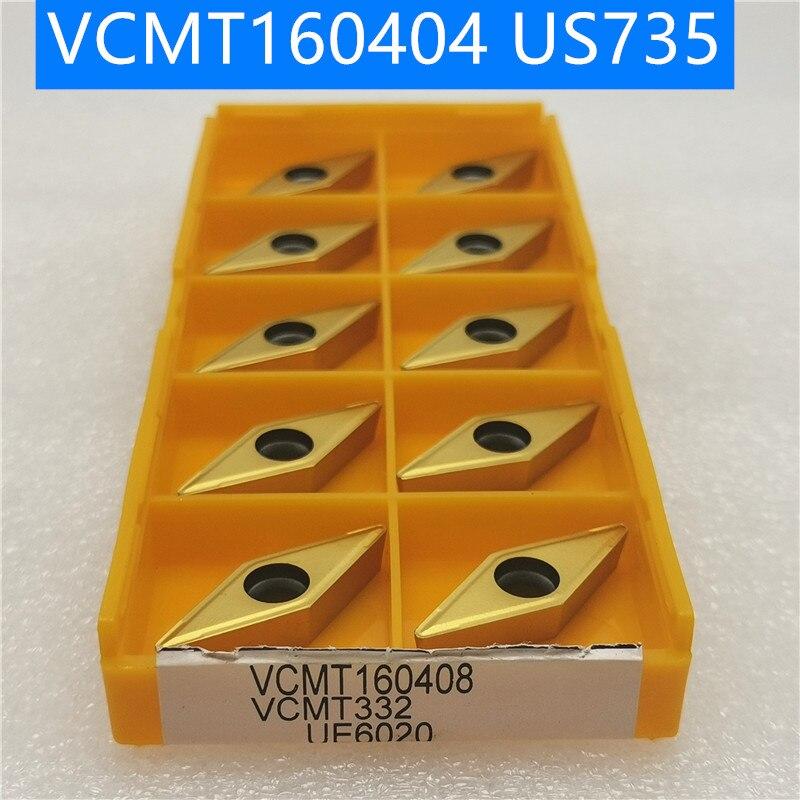 10Pcs Korloy VCMT160404-HMP PC9030 VCMT331-HMP PC9030 Carbide Inserts