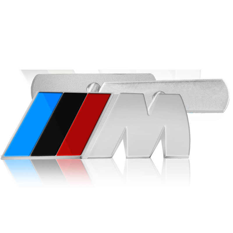 1 Pcs Mobil Pelabelan Mobil Depan Grille Lencana Stiker untuk BMW M Stiker X1 X3 X4 X5 X6 X7 E46 e90 F20 E60 E39 F10 F30 Aksesoris Mobil