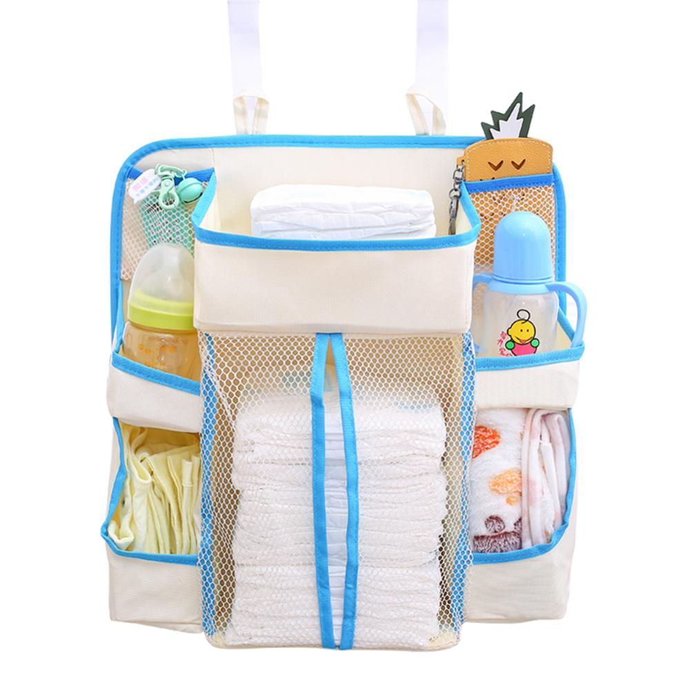 Multi-pockets Diaper Wet Bags Nursing Hanging Storage Organizer Bag Baby Bedding Pouch Baby Three-dimensional Storage Bags