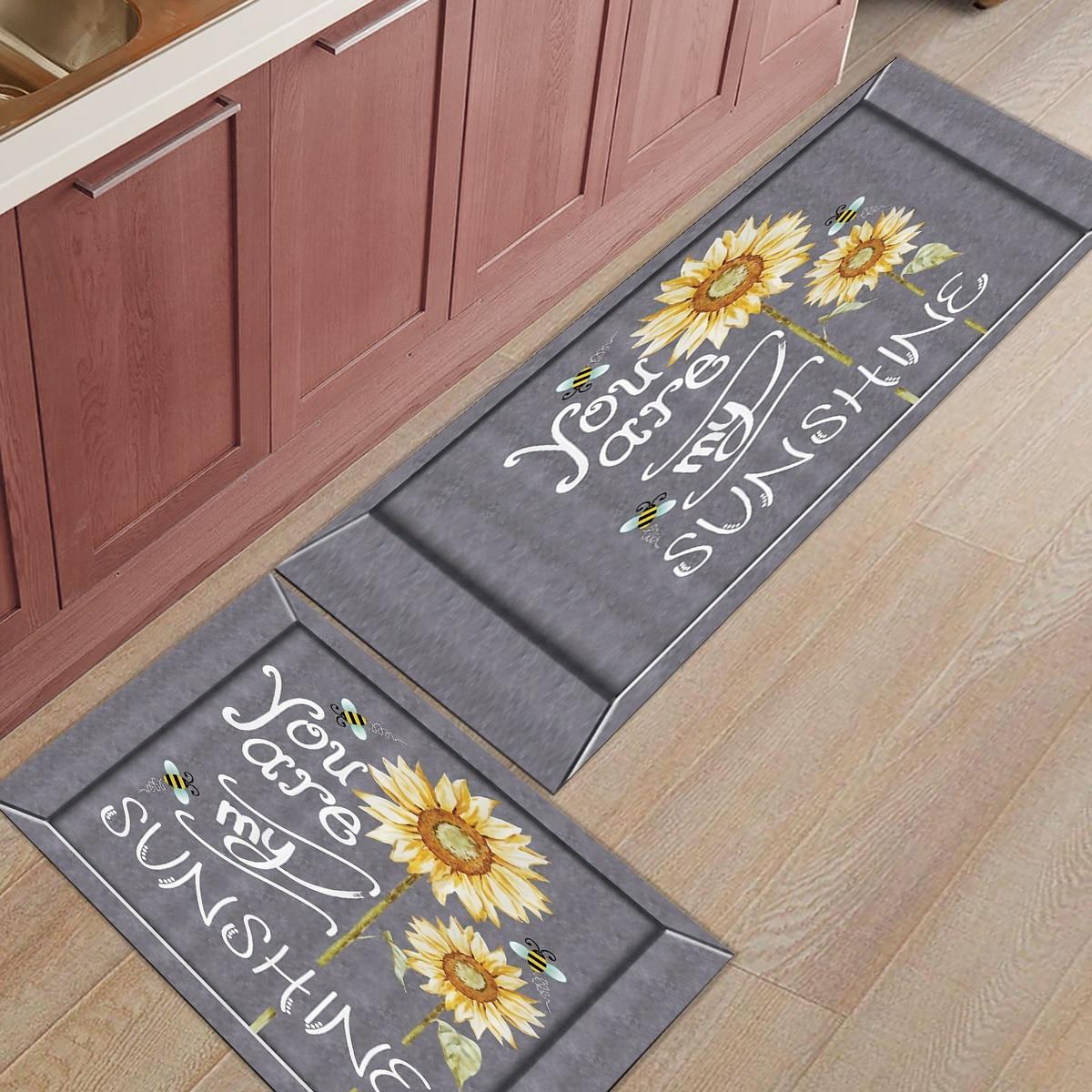 2 шт. Коврики для кухни вы мой Солнечный Подсолнух коврики для входной двери ванной комнаты гостиной двери коврики домашний декор