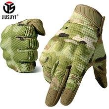 Camouflage écran tactile tactique doigt complet gants armée militaire Paintball vélo tir moto Airsoft équipement de Combat hommes femmes