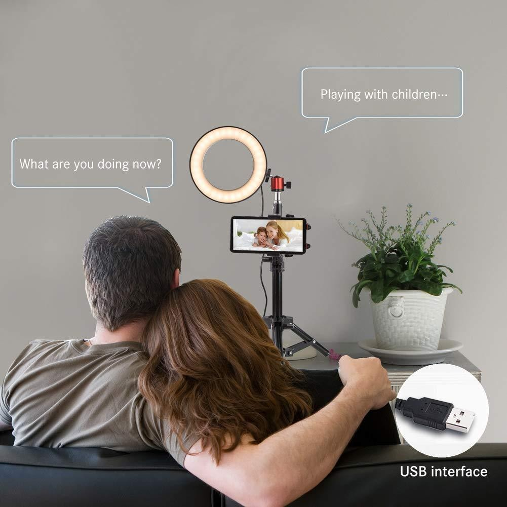 cheapest Photo Studio Phone Video Mini Desktop Table LED Ring Light Photography Dimmable Makeup Ring Lamp DJA88