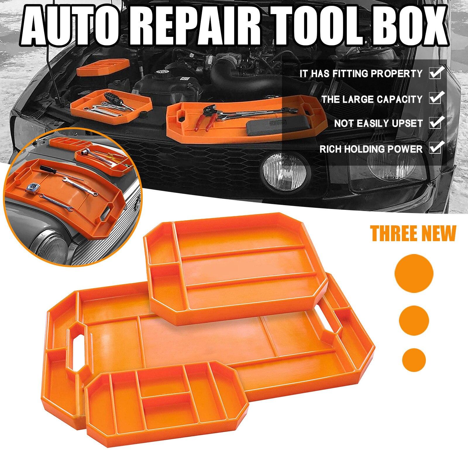 Automotive Non-slip Flexible Tool Holder Box Organizer Tray Nonslip Ultra Durabl Car Tools Storage Tray