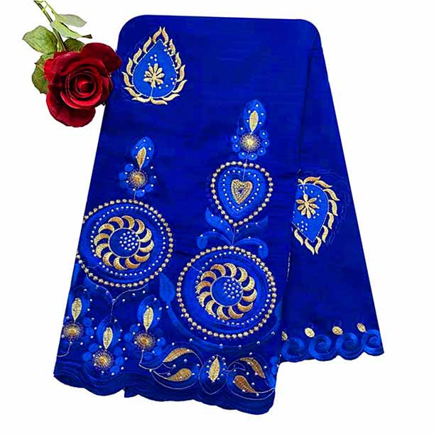 100% Cotton Scarf African Women Special Muslim Women Embroidery Hijab Scarf Big Circle Design Headscarf EC122