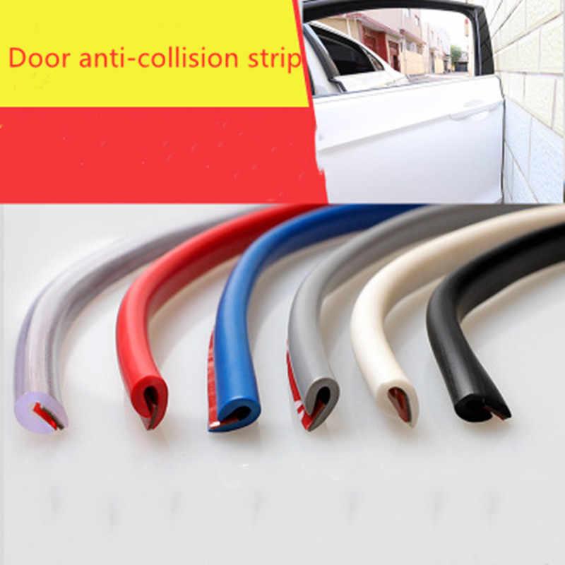 1 m/lote Auto Universal borde de la puerta del coche de goma Protector de arañazos moldura tiras de protección de sellado Anti-rub DIY Coche -estilo