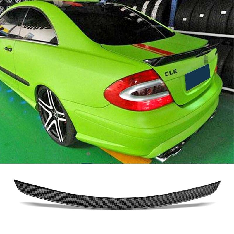 Aileron de coffre de voiture fibre de carbone/FRP Auto accessoires d'aile de coffre arrière Spoiler pour Benz W209 CLK200 280 350 55 63