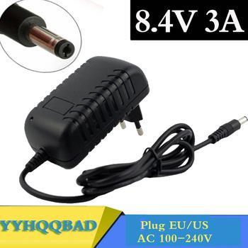 8.4V 3A 5.5*2.1Mm Ac Dc Power Supply Adapter Oplader Voor 7.2V 7.4V 8.4V 18650 Li-Ion Li-Po Batterij